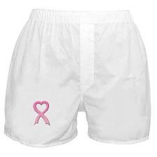 Heart Pink Ribbon Boxer Shorts