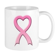 Heart Pink Ribbon Mug
