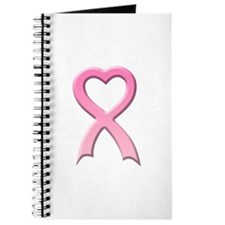 Heart Pink Ribbon Journal