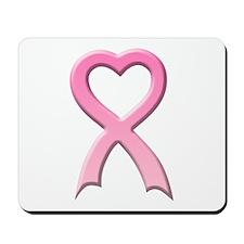 Heart Pink Ribbon Mousepad