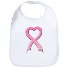 Heart Pink Ribbon Bib
