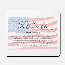 Amendment I and Flag Mousepad
