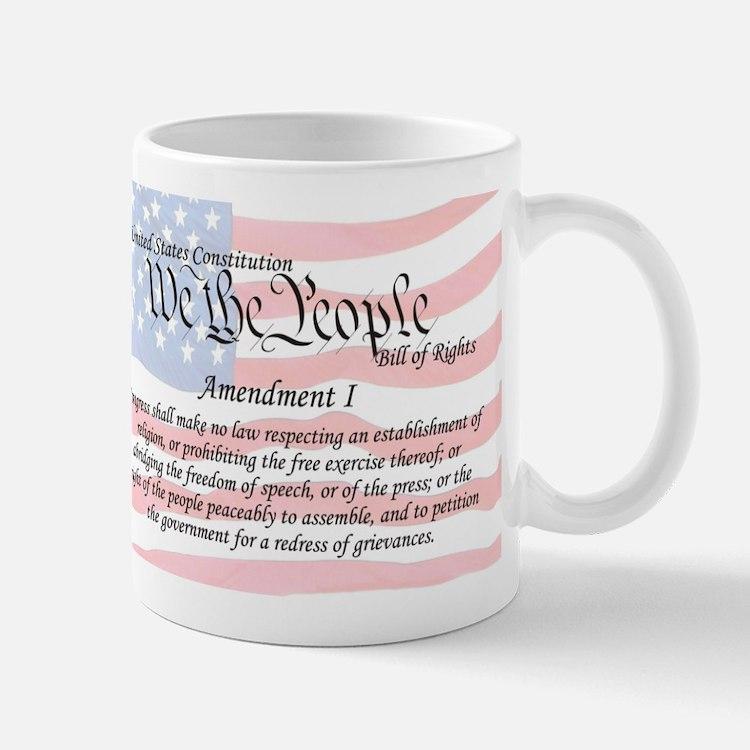 Amendment I and Flag Mug