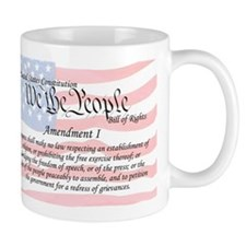 Amendment I and Flag Mug