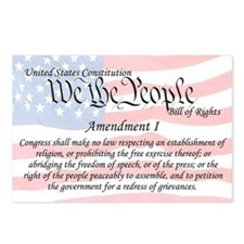 Amendment I and Flag Postcards (Package of 8)