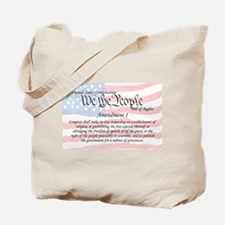 Amendment I and Flag Tote Bag
