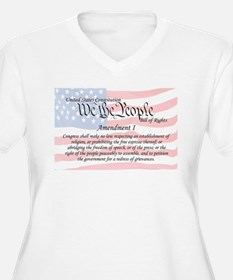 Amendment I and Flag T-Shirt