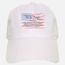 Amendment I and Flag Baseball Baseball Cap