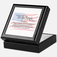Amendment I and Flag Keepsake Box