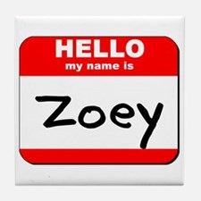 Hello my name is Zoey Tile Coaster