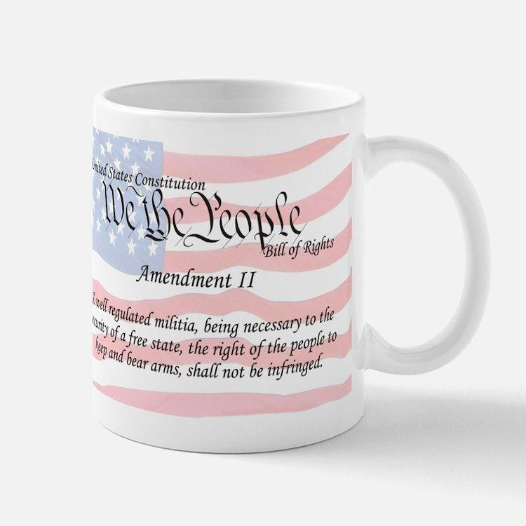 Amendment II and Flag Mug