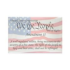 Amendment II and Flag Rectangle Magnet