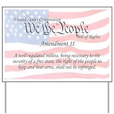 Amendment II and Flag Yard Sign