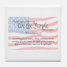 Amendment II and Flag Tile Coaster