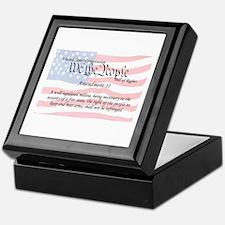 Amendment II and Flag Keepsake Box