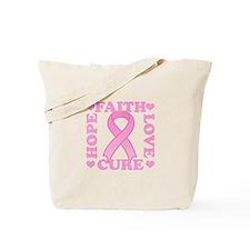 Hope Faith Love Cure Tote Bag