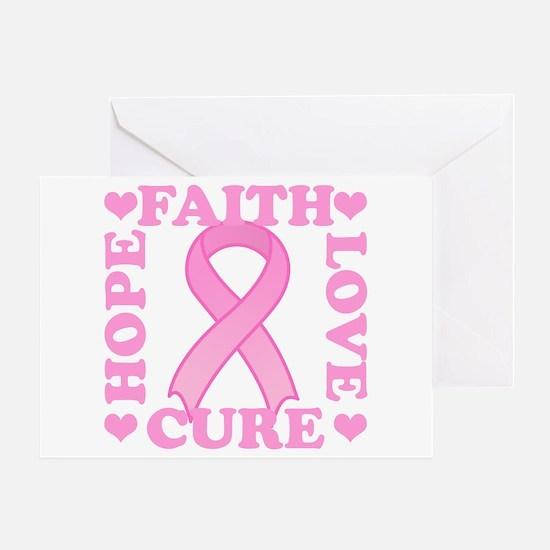 Hope Faith Love Cure Greeting Card