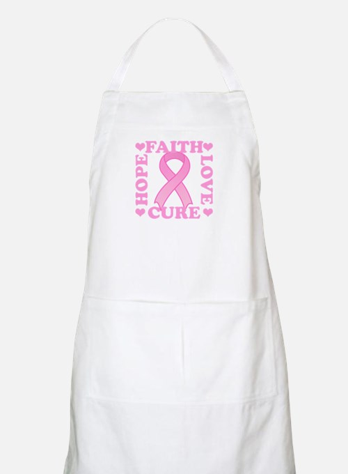 Hope Faith Love Cure BBQ Apron