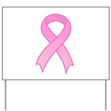 Breast Cancer Pink Ribbon Yard Sign