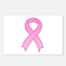 Breast Cancer Pink Ribbon Postcards (Package of 8)