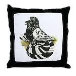 English Trumpeter Dark Splash Throw Pillow