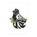 English Trumpeter Dark Splash Rectangle Sticker 5
