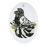 English Trumpeter Dark Splash Oval Ornament