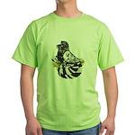 English Trumpeter Dark Splash Green T-Shirt