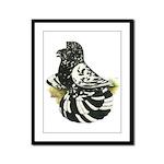English Trumpeter Dark Splash Framed Panel Print