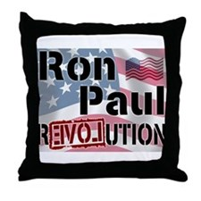 Ron Paul Revolution Throw Pillow