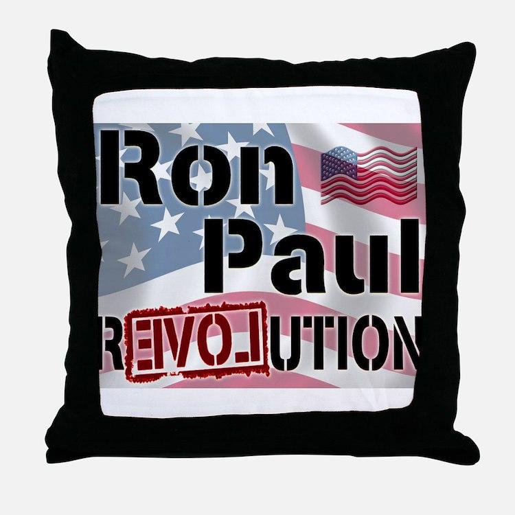 Ron Paul Revolution Throw Pillow