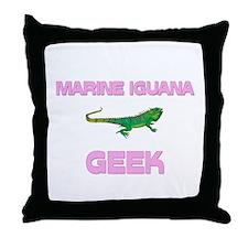 Marine Iguana Geek Throw Pillow