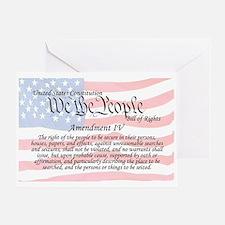 Amendment IV and Flag Greeting Card