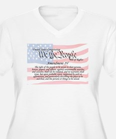 Amendment IV and Flag T-Shirt