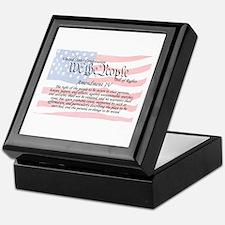 Amendment IV and Flag Keepsake Box