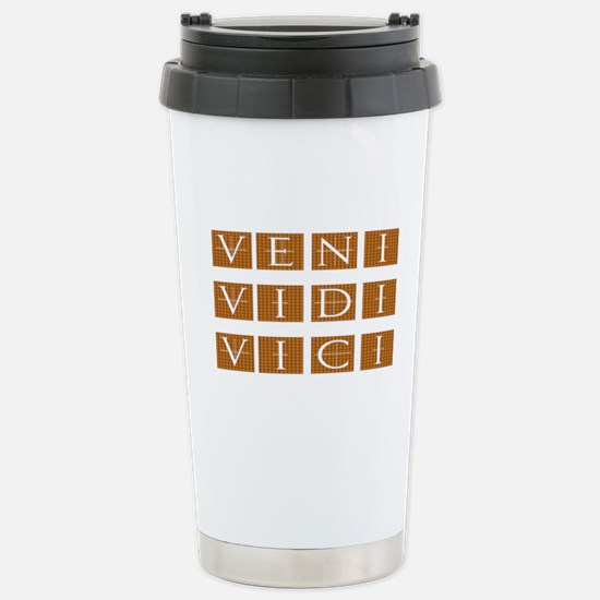 Veni Vidi Vici Stainless Steel Travel Mug