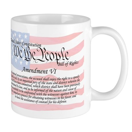 Amendment VI and Flag Mug