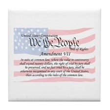 Amendment VII and Flag Tile Coaster