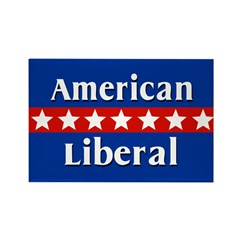 American Liberal Rectangle Magnet