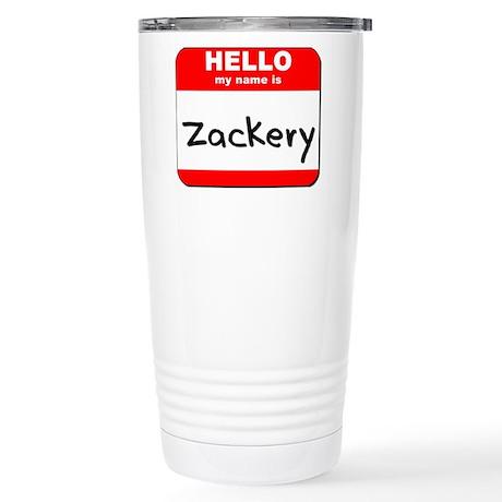 Hello my name is Zackery Stainless Steel Travel Mu