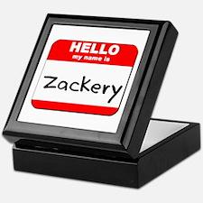 Hello my name is Zackery Keepsake Box