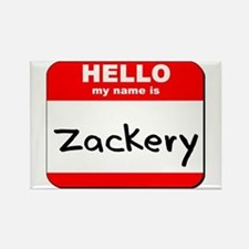 Hello my name is Zackery Rectangle Magnet