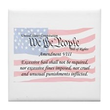 Amendment VIII and Flag Tile Coaster
