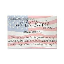 Amendment IX and Flag Rectangle Magnet
