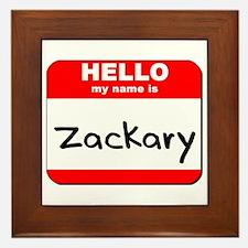 Hello my name is Zackary Framed Tile