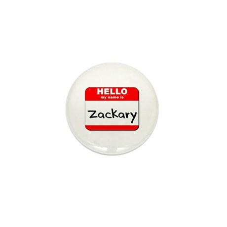 Hello my name is Zackary Mini Button (10 pack)