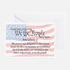 Amendment X and Flag Greeting Card