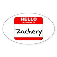 Hello my name is Zachery Oval Decal