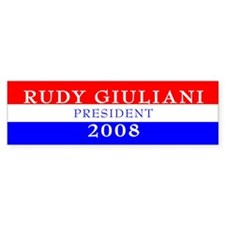 Rudy Giuliani, President, 2008 Bumper Sticker-3
