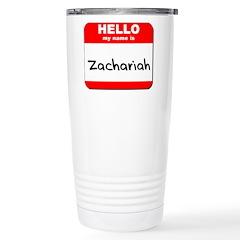 Hello my name is Zachariah Travel Mug